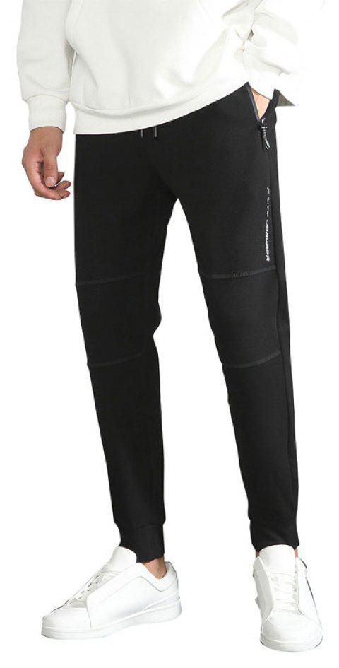Men'S Clothes Fall Chic Bottoms Sports Tiny Feet Nine-Point Pants Trousers - BLACK L