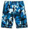 Summer Men Beach Shorts Camouflage Board Lightweight Quick Drying - BLUE 3XL