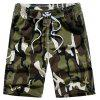 Summer Men Beach Shorts Camouflage Board Lightweight Quick Drying - ARMY GREEN 2XL