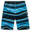 Short de plage à séchage rapide Summer Striped Board Casual Mens - Bleu M