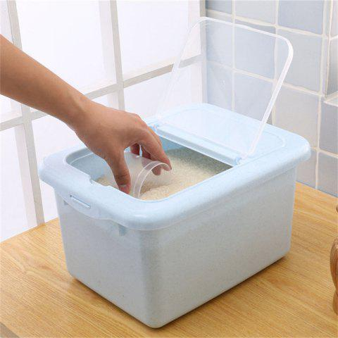 1 Box Kitchen Rice Box  Insect-Resistant Moisture Proof Flip Container - SKY BLUE REGULAR
