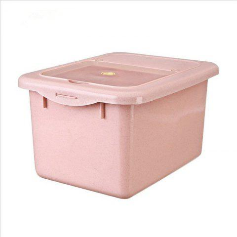 1 Box Kitchen Rice Box  Insect-Resistant Moisture Proof Flip Container - PINK REGULAR