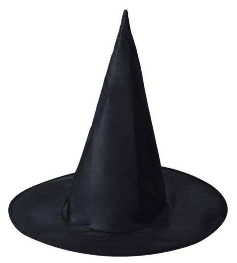 YEDUO  Black Witch Hat For Halloween Costume Halloween Party Accessory - JET BLACK