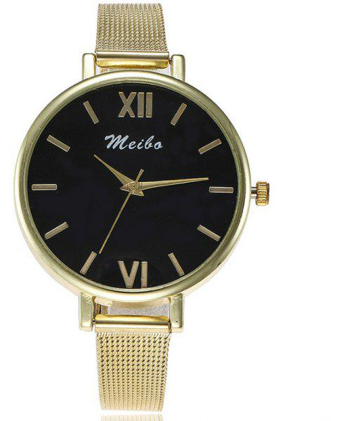 New Fashion Men Business Network with Creative Scale Simple Dial Leisure Watch - GOLD