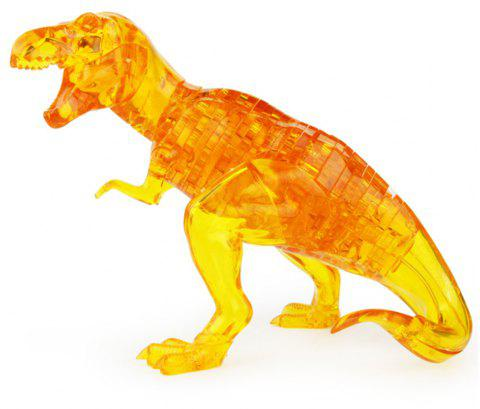 Creative 3D Dinosaur Crystal Puzzle Animal Assembled Model DIY Educational Toy - ORANGE GOLD