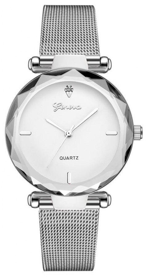 GENEVA Women Simple and Fashionable Stainless Steel Quartz Watch - multicolor G