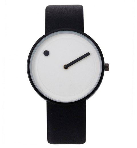 Fashion Casual Simple Leather Watch Band Quartz Watch - multicolor C