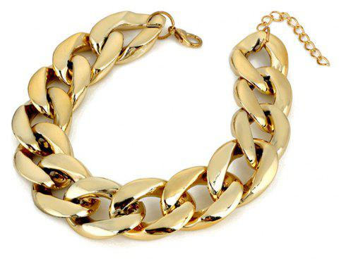 European and American Fashion Gold Hyperbole Chain Lady's Anklet - GOLD