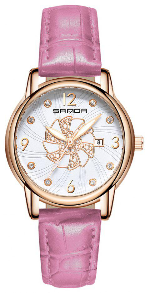 SANDA Ms. Atmospheric  Calendar Quartz Watch - PINK