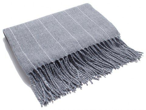 Soft and Striped Scarves for Ladies in Autumn and Winter - GRAY CLOUD