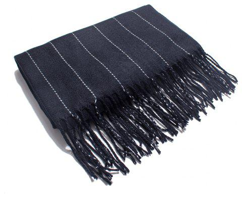Soft and Striped Scarves for Ladies in Autumn and Winter - BLACK