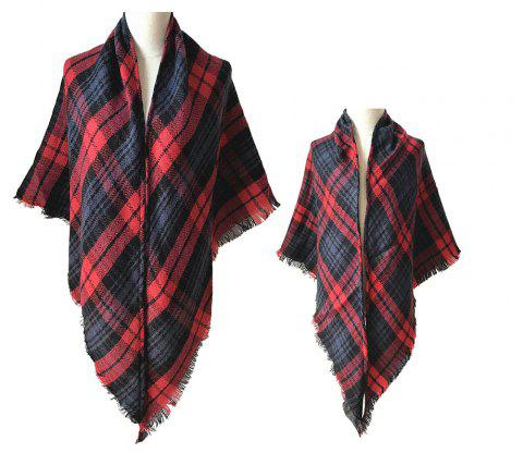 The Comfortable Soft Parent-Child Scarf - BEAN RED