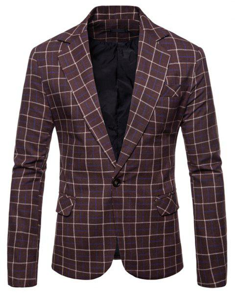 Men's  Casual Fashion Wild Small Suit - multicolor C 2XL