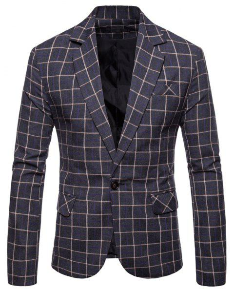 Men's  Casual Fashion Wild Small Suit - multicolor A XL