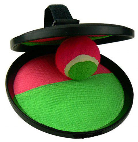 Parent-Child Interactive Sports Toy for Catching Balls and Sticking Target Plate - multicolor