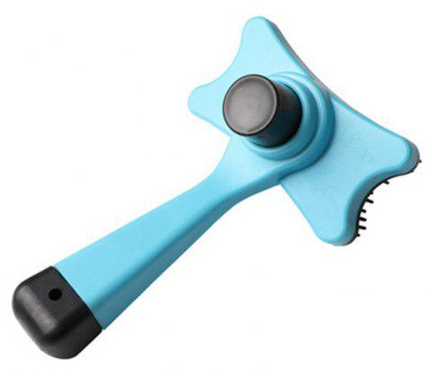 Pet Plastic Massage Comb Automatic Hair Removal Beauty Tool - LIGHT BLUE