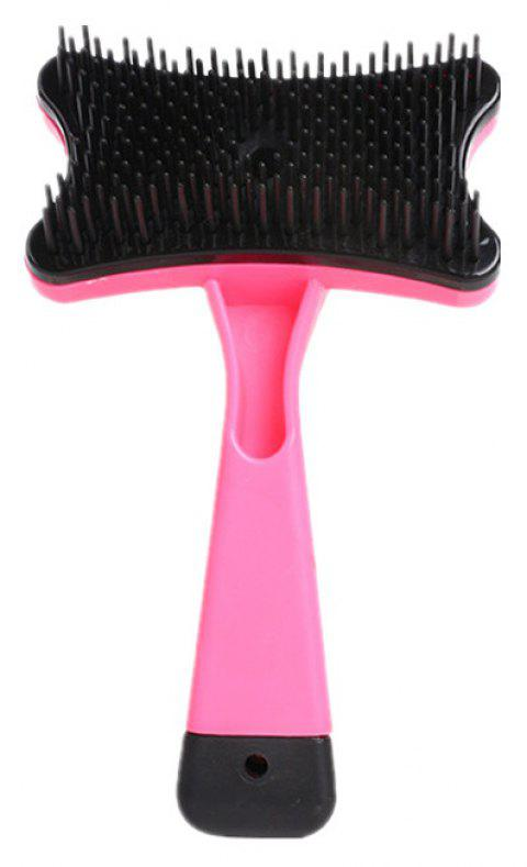 Pet Plastic Massage Comb Automatic Hair Removal Beauty Tool - PINK