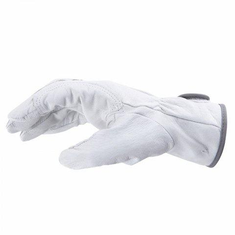 Welding Handle Leather and Labor Protective Gloves - SILK WHITE
