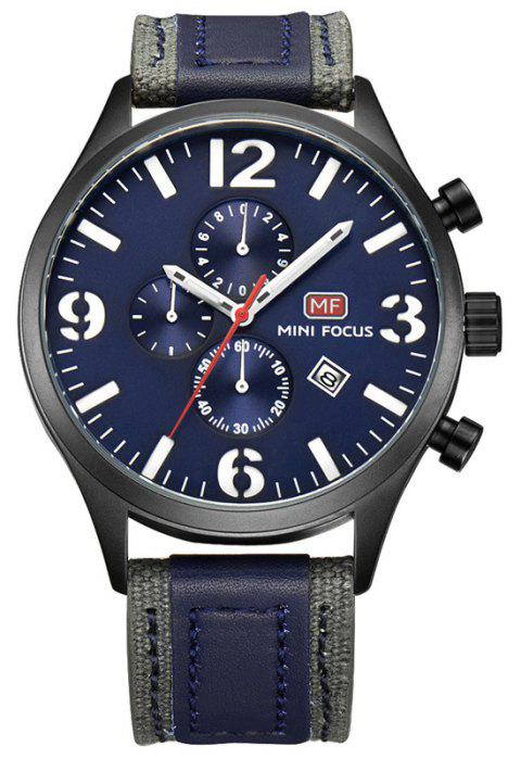 Men's Outdoor Frosted Multi-Functional Calendar Water Resistant  Wrist Watch - NAVY BLUE