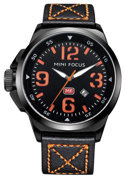 MINI FOCUS Men's Fashion Movement Japanese Movement Sports Quartz Wrist Watches - ORANGE