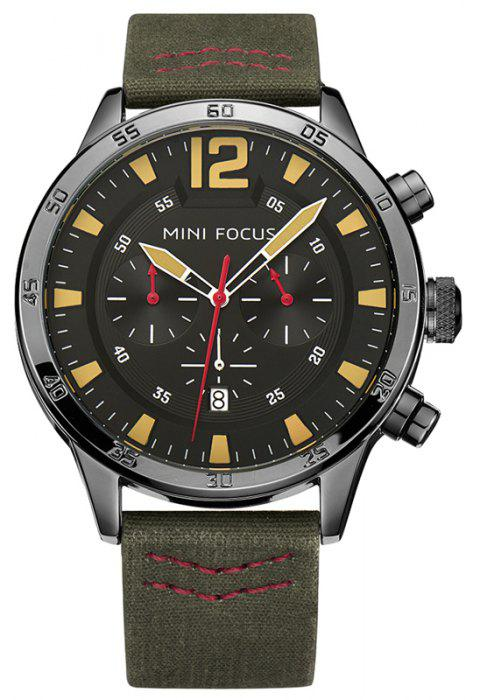 Men's Outdoor Fashion Multifunctional Business Sport Calendar Quartz Wrist Watch - ARMY GREEN