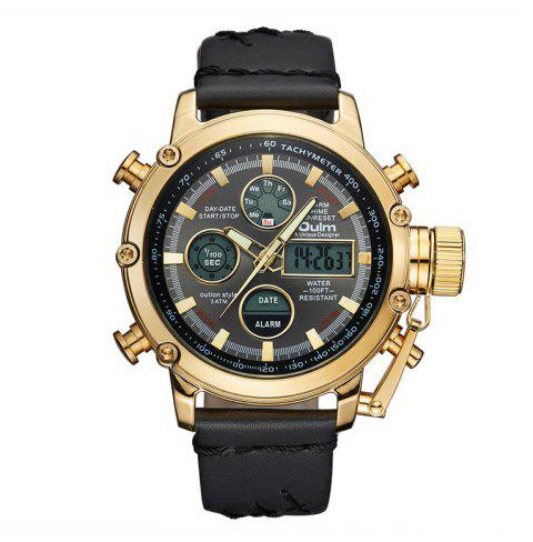 Oulm Dual Display Analog Digital Quartz Men Top Brand Luxury Gold Sports Watches - multicolor B