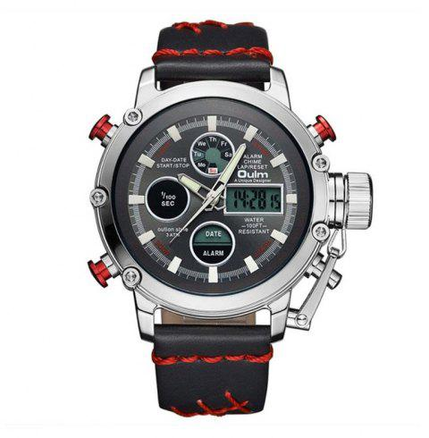 Oulm Dual Display Analog Digital Quartz Men Top Brand Luxury Gold Sports Watches - multicolor D