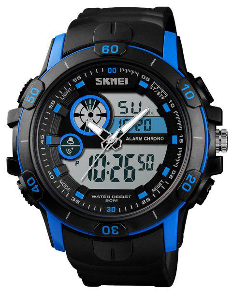 Skmei Men'S Digital Outdoor Sports Quartz Electronic Wrist Watches Luminous - BLUE