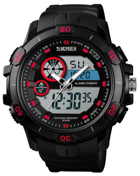 Skmei Men'S Digital Outdoor Sports Quartz Electronic Wrist Watches Luminous - RED