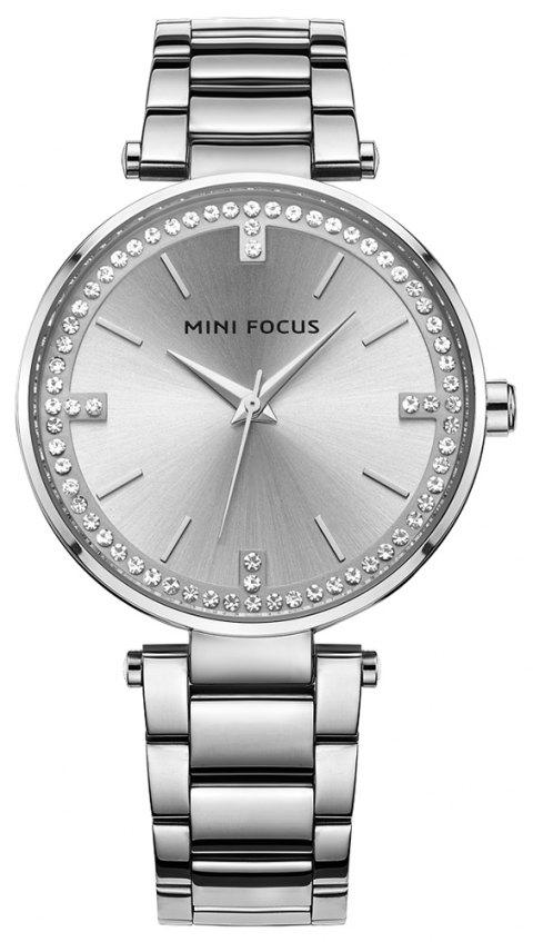 MINI FOCUS Dress New Women Fashion Quartz Watch Ladies Famous Clock - SILVER