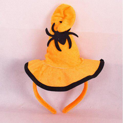 Bande de cheveux Spider Pumpkin Hat Coiffure Head Hoop Halloween Party - Jaune Canard Caoutchouc