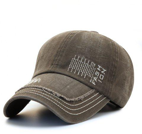 Cowboy Washed Embroidered Letters Sunscreen Cotton Outdoor Baseball Cap - ARMY  GREEN ee5e9fc92