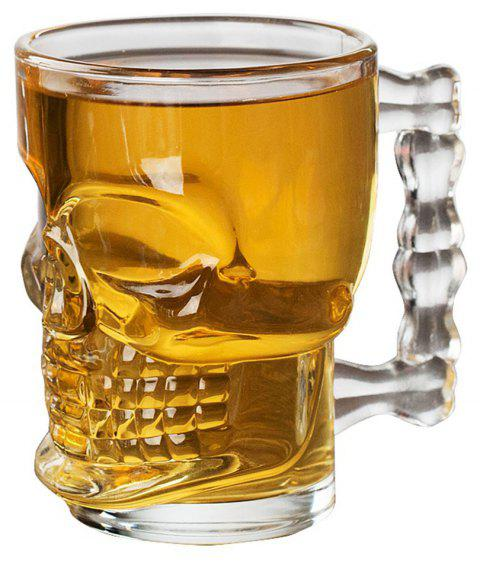 Household Originality Water Cup Skull Decoration Transparent Glass Beer Mug - TRANSPARENT