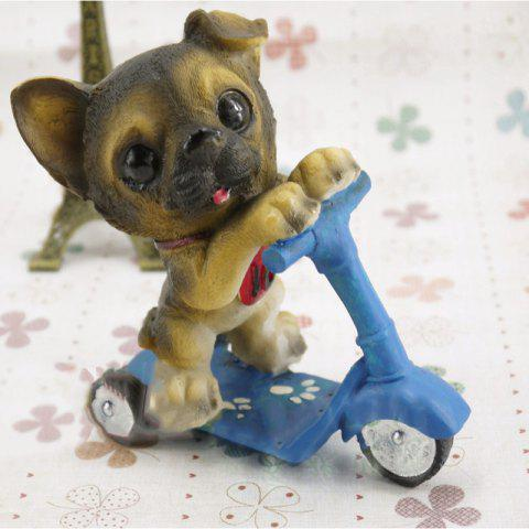 Dog Doll Riding Scooter Craft Gift - multicolor D 11*6.5*12CM
