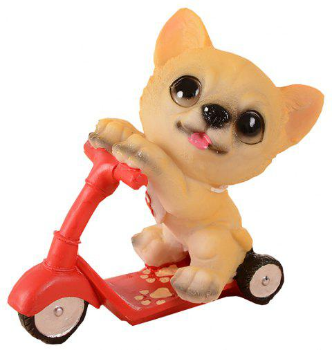 Dog Doll Riding Scooter Craft Gift - multicolor B 11*6.5*12CM