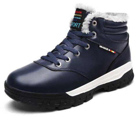 Men'S Plus Cotton Non-Slip Warm Snow Boots - DARK SLATE BLUE EU 44