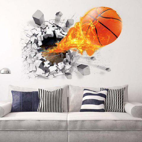 Sticker mural amovible en PVC 3D - multicolor
