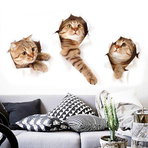 Lovely Animals Removable PVC Wall Sticker - multicolor