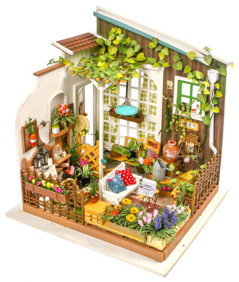 Robotime DIY House Hand-Assembled Creative Dollhouse Miller Garden - WHITE SINGLE