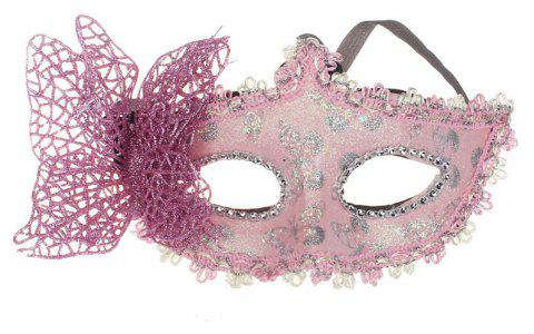 Sexy Butterfly Ball Mask For Girls Women Masquerade - PINK 10 X 20CM