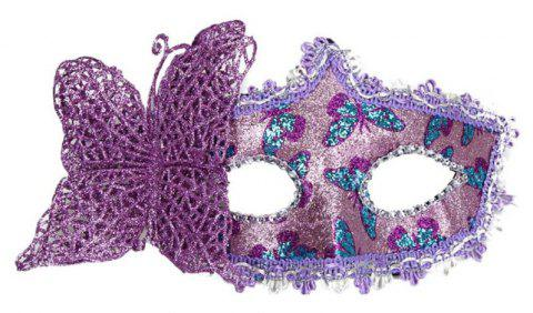Sexy Butterfly Ball Mask For Girls Women Masquerade - PURPLE AMETHYST 10 X 20CM