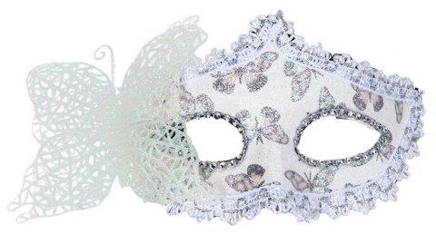 Sexy Butterfly Ball Mask For Girls Women Masquerade - WHITE 10 X 20CM