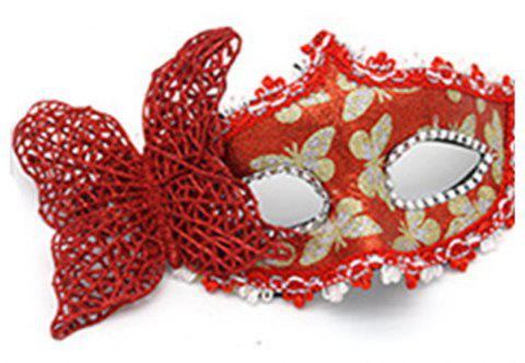 Sexy Butterfly Ball Mask For Girls Women Masquerade - RED 10 X 20CM