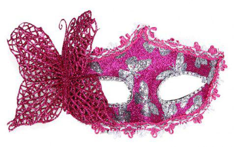 Sexy Butterfly Ball Mask For Girls Women Masquerade - DIMORPHOTHECA MAGENTA 10 X 20CM