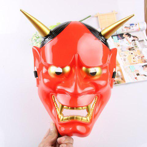 Halloween Cosplay Hommes Canine Dents Roi Lanling Masque Déguisement - Rouge 26*20CM