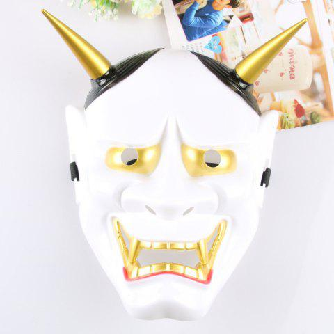 Halloween Cosplay Hommes Canine Dents Roi Lanling Masque Déguisement - Blanc 26*20CM