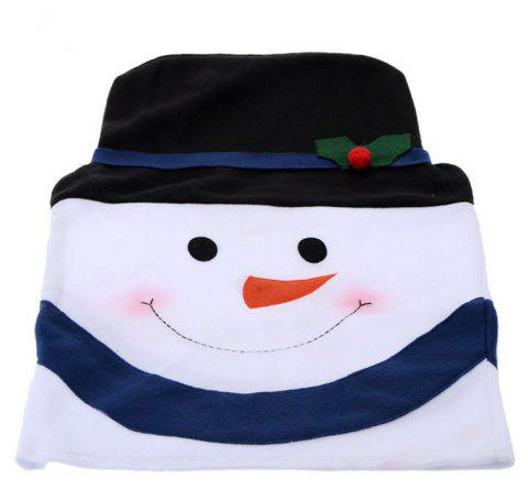 Christmas Snowman Chair Covers Home Decoration Dinner - BLACK 58*40CM
