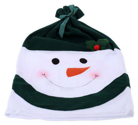 Christmas Snowman Chair Covers Home Decoration Dinner - DEEP GREEN 58*40CM