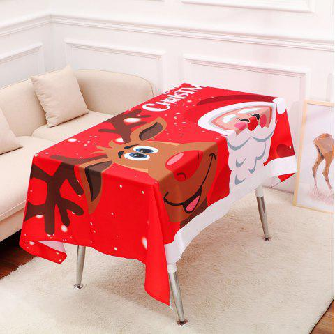 Christmas Table Cloth Cartoon Pattern Printing Home Wide Tablecloth Decorations - RED 140*195CM