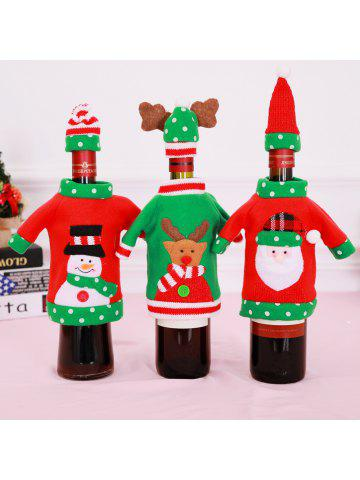 christmas red wine bottle covers bags snowman santa claus reindeer ornaments